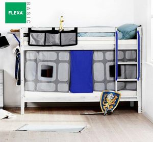 Flexa - lit superposé knight de flexa en pin vernis blanch - Etagenbett