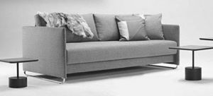 INNOVATION - upend canape design tissu gris convertible lit 190 - Bettsofa