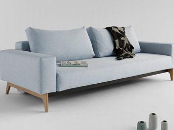 INNOVATION - idun canapé design bleu soft icy convertible lit 2 - Bettsofa