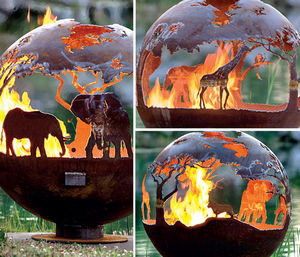 BRASEROS DESIGN - african safari - Feuerstelle
