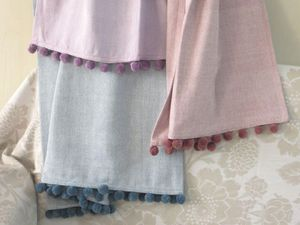 ITI  - Indian Textile Innovation - herringbone design - Bettüberwurf