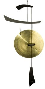 Woodstock Chimes - gong empereur éolien noir grand - Gong