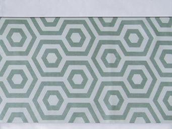 BAILET - ornement graphique - symphonie - 240x37 cm - vert  - Bettwäsche