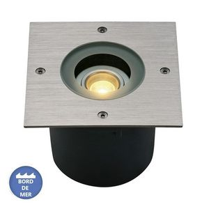 SLV - spot led encastrable wetsy inox 316 ip67 l13 cm - Einbau Bodenspot