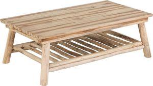 ZAGO - table basse en teck 2 plateaux refuge - Rechteckiger Couchtisch