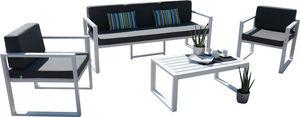 HEVEA - salon de jardin en aluminium 5 places muna - Gartengarnitur