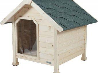 jardindeco - niche en bois chalet extra large - Hundehütte
