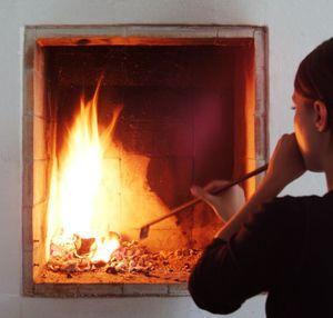 D-ZN -  - Blasrohr Zum Feueranfachen