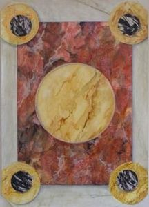 Josef Hoffmann - faux marbre - Wanddekoration