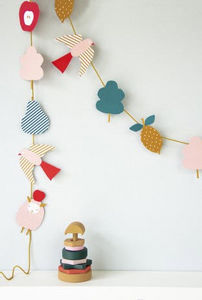 ENGEL - paper garland 'sheep' diy - Girlande Kindern