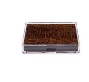 POSH - grand matbox clear vintage croc - Tischset