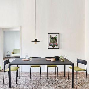 Midj - more - table extensible acier et fenix noir de 1m4 - Ausziehtisch