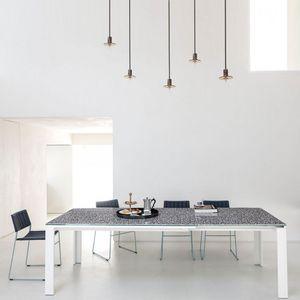 Midj - marcopolo - table extensible mosaïque 1m60 à 2m50 - Ausziehtisch