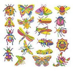 10 DOIGTS - insectes - Gummiertes Papier