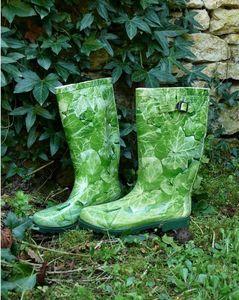 HISTOIRE DE JARDIN - bottes caoutchouc décord lierre - Gartenstiefel