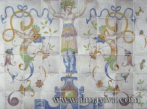 Almaviva - cariatide - Azulejos (fliesenmotive)