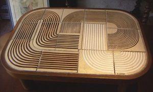 ACI Antiquités - table basse sixties - Rechteckiger Couchtisch