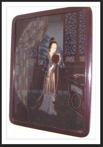 ACI Antiquités -  - Hinterglasmalerei