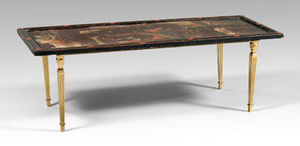 Jacque's Antiques - chinese lacquer panel 19th cent. fitted as coffee table  - Rechteckiger Couchtisch
