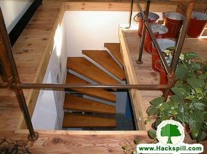 Ebénisterie Hackspill -  - Zweimal Viertelgewendelte Treppe