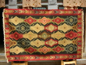 Red Rugs - wool kilim rugs - Kelim