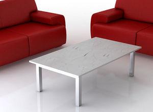 swanky design - atlantic marble coffee table - Rechteckiger Couchtisch