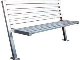 Amberol - stainless steel bench - Stadtbank