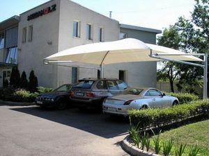 Carapax France - abri 2 pieds - 7.95m x 5.00m - Autoüberdachung
