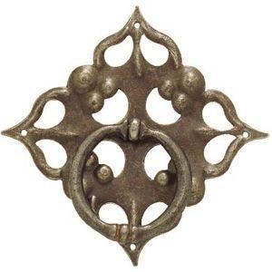 FERRURES ET PATINES - rosace de meuble avec anneau en fer vielli style l - Türrosette