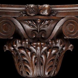 Expertissim - console d'applique en noyer sculpté - Konsolwandleuchte