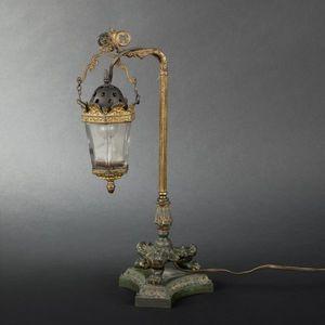 Expertissim - veilleuse en métal patiné et doré en forme de peti - Nachtlicht