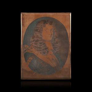 Expertissim - portrait présumé de colbert, matrice sur cuivre - Porträt