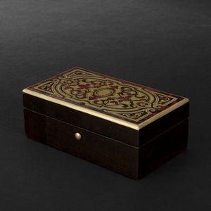 Expertissim - petit coffret rectangulaire à marqueterie de style - Handschuhbox