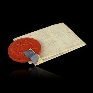 Expertissim - brevet de nomination de comte de l?empire au nom d - Manuskript