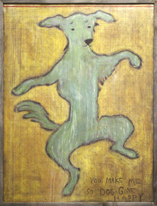 Sugarboo Designs - art print - dancing dog 3x4 - Dekorative Gemälde Für Kinder