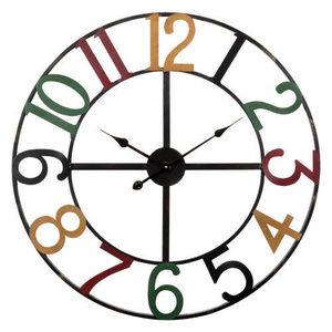 Maisons du monde - horloge numbers multicolore - Küchenuhr