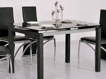 CLEAR SEAT - table en verre noire à rallonge extensible waly - Ausziehbarer Tisch