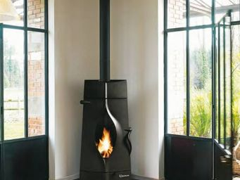 INVICTA - poêle à bois finition anthracite 14kw oracle 56x12 - Holzofen