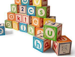 UNCLE GOOSE - lowercase abc blocks - Aufbau Spiel