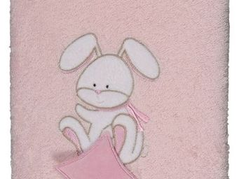 SIRETEX - SENSEI - drap douche 70x140cm doudou rabbit rose - Kinder Badetuch