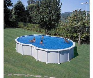 GRE - piscine varadero 640 x 390 x 120 cm - Pool Mit Stahlohrkasten