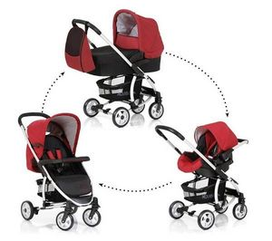 HAUCK - pack poussette trio malibu all in one - caviar/tan - Buggy