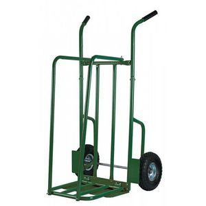 RIBILAND by Ribimex - chariot à bûches en acier verni vert jusqu'à 250k - Kaminholzhalterständer