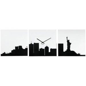 Present Time - horloge new york skyline - Wanduhr