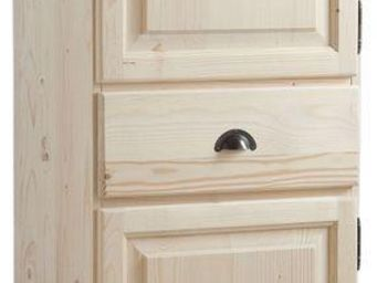 BARCLER - bonnetière en bois brut 62x40x180cm - Kleiderschrank