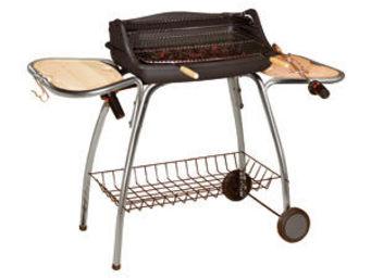 INVICTA - barbecue laredo en acier et bois 135x55x96cm - Holzkohlegrill