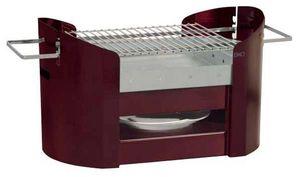 Don Hierro - barbecue portatif en acier galvanisé rouge foxy 70 - Holzkohlegrill