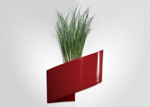 GREEN TURN - jardinière murale rouge modul'green 1 module 22x1 - Wand Blumenkasten