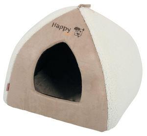 ZOLUX - igloo happy en tissu microfibre sable 47x47x38cm - Hundekorb