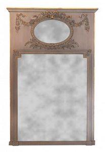 Demeure et Jardin - trumeau beige louis xvi grand modéle - Trumeauspiegel